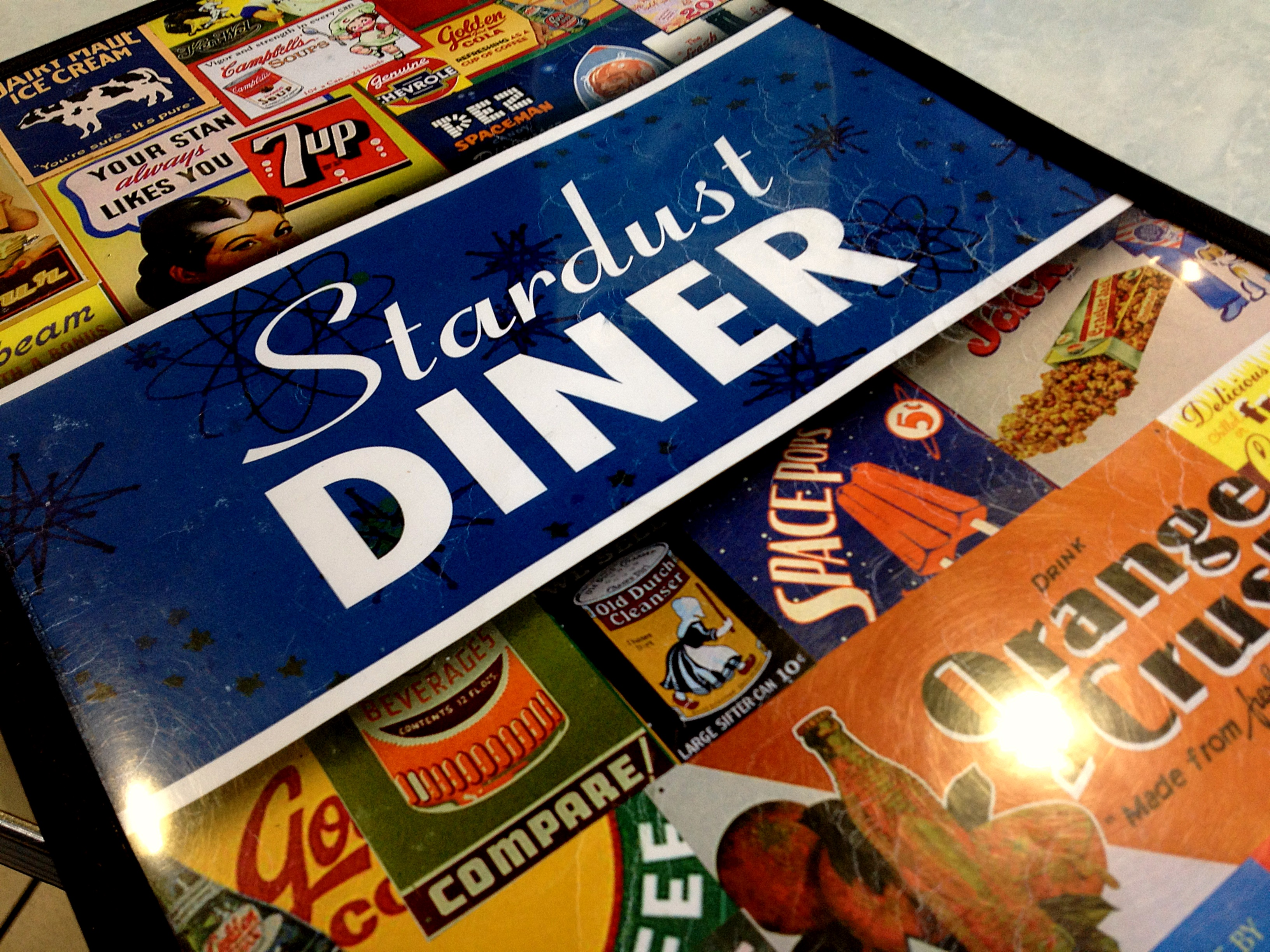 Stardust Diner Menu Cover