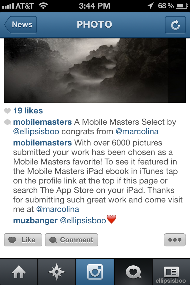 Mobile Masters Winning Entry Notification